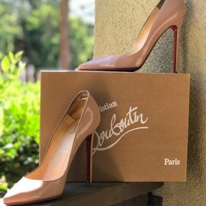 Christian Louboutin 120mm Pigalle- Nude